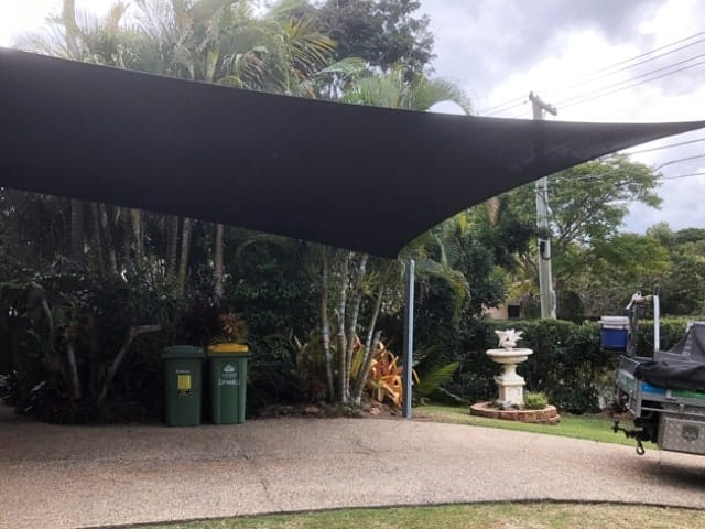 Rochedale, Brisbane - Shade Sail Install 6 point Z-16 material installed by Superior Shade Sails, Brisbane