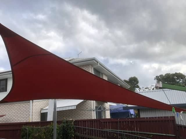 Brisbane-Shade Sail to block western sun and keep pets cool.