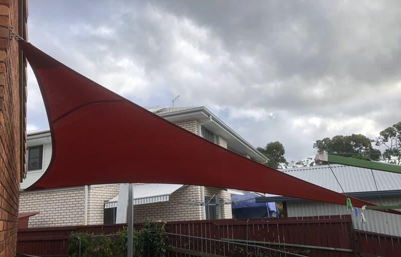 Brisbane-Shade Sail to block western sun and keep pets cool.