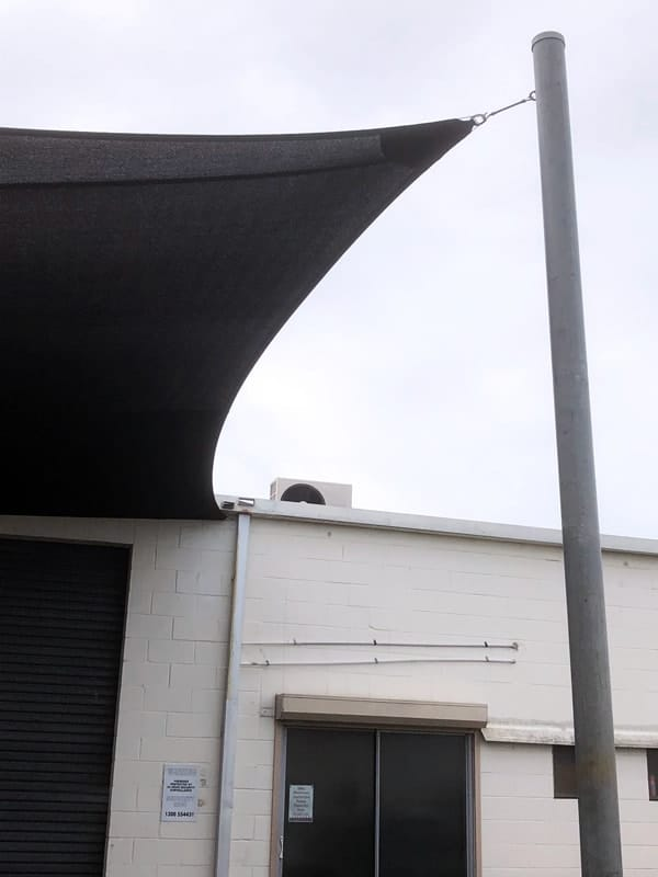 Replacement shade sail - Bundall, Gold Coast - Biku Furniture installed by Superior Shade sAILS.