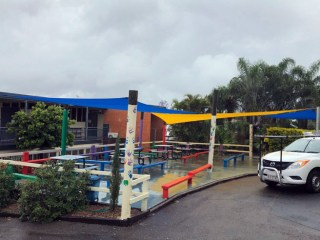 Replacement Shade Sail for Lunch and Play area at Queen of Apostles School
