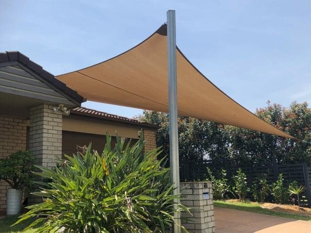 Driveway Shade Sail installed at Parkinson on the southside of Brisbane se