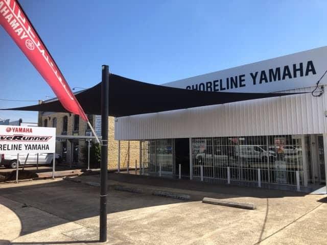 Repair & Replacement of Shade Sail - Shoreline Yamaha, Slacks Creek.