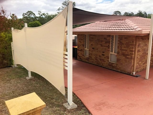 Carport Enclosure Shade Sails - Superior Shade Sails, Brisbane.