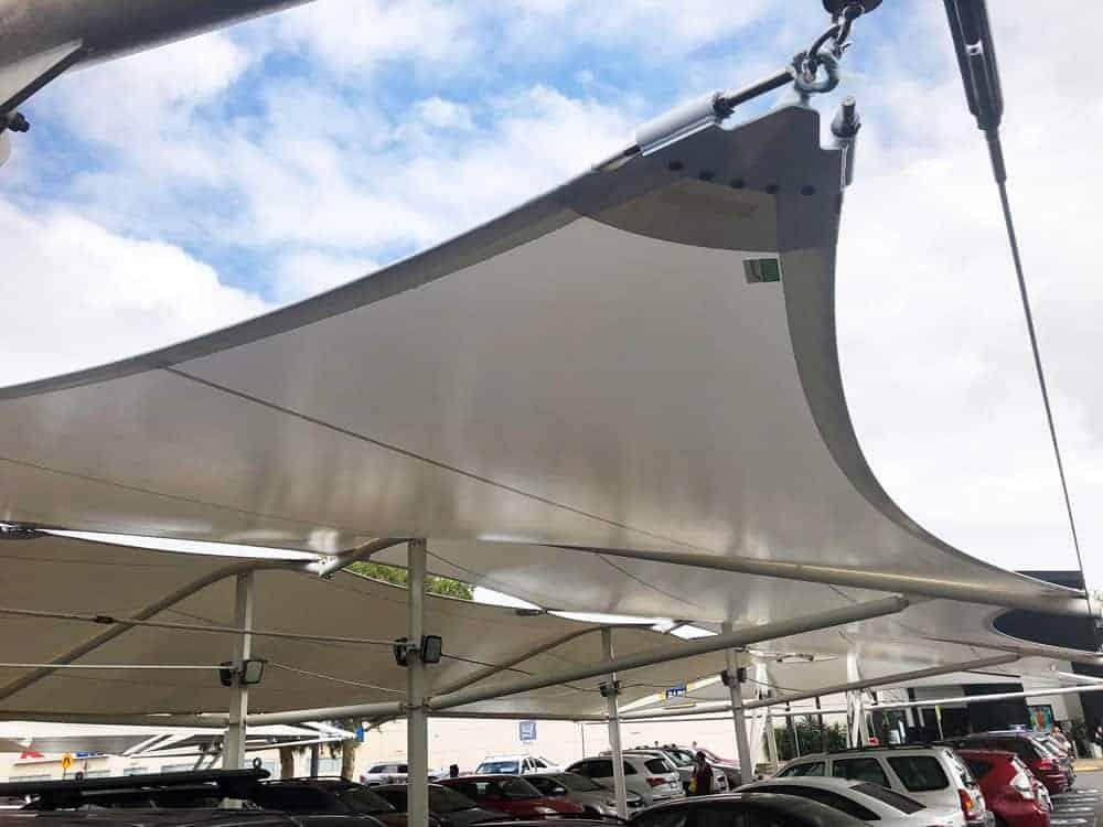 11 point Carpark Shade Sail - Loganholme Hyperdome.