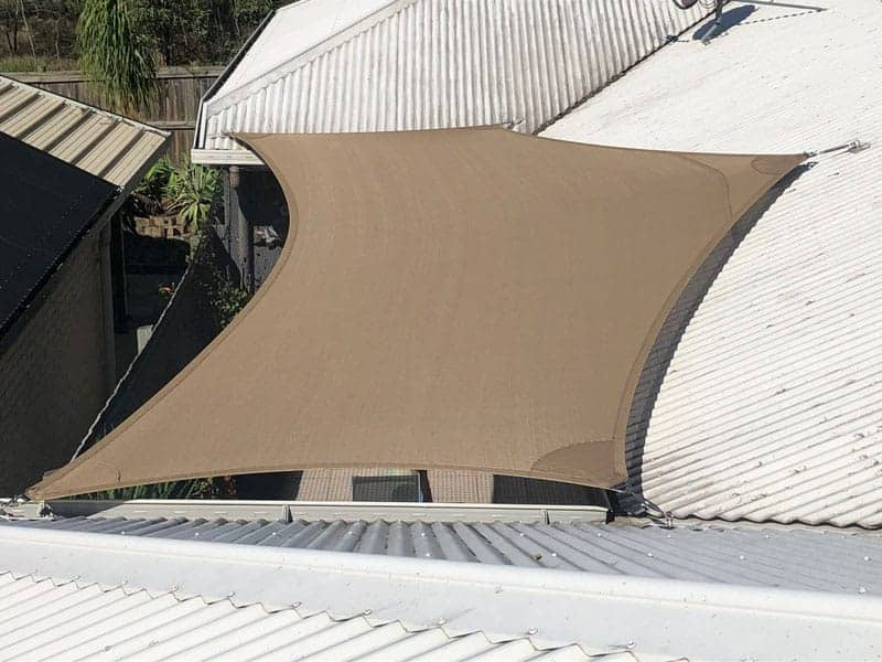 Shade sail for cat enclosure - Springfield