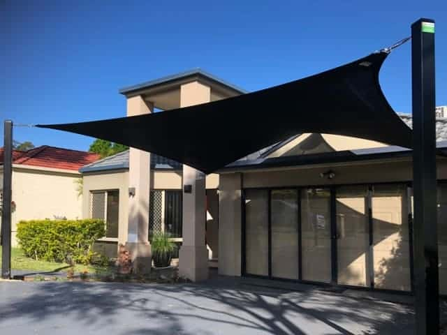 5 point Carport Shade Sail installed at Forest Lake, Brisbane southside.