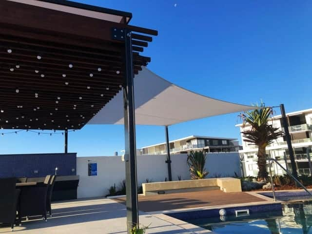 Shade sail for the Sunnybank Church installed by Superior Shade Sails, Brisbane