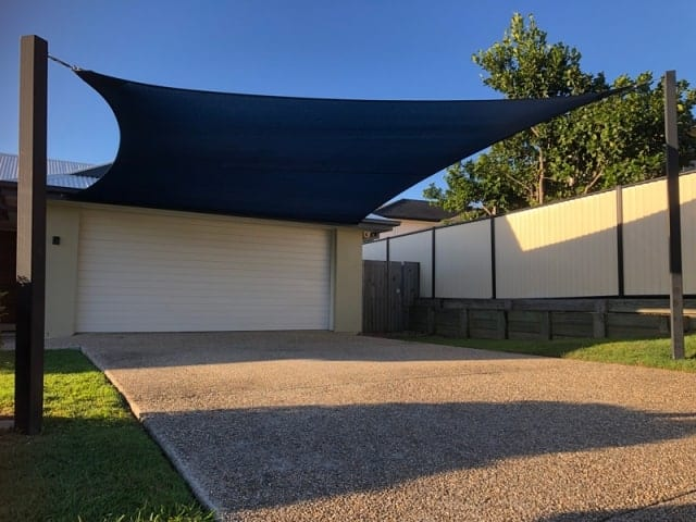 Replacement Shade Sail - Lakewood Estate, Parkinson installed by Superior Shade Sails.