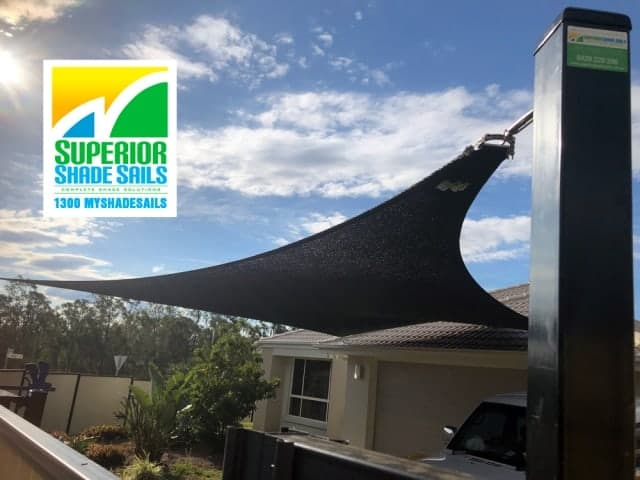 5 Point Carport Shade Sail installed by Superior Shade Sails, Gleneagle