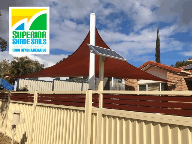 Driveway Shade Sail using Rainbow Z-16 installed by Superior Shade Sails, Brisbane