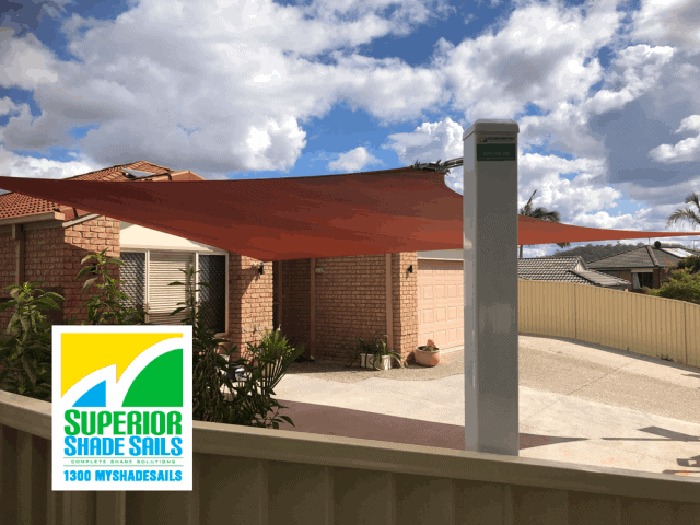 Driveway Shade Sail using Rainbow Z-16 installed by Superior Shade Sails, Brisbane