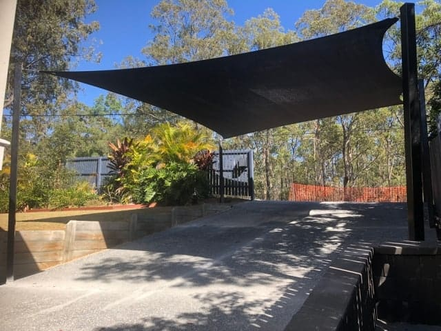 Get Storm ready and protect your cars from hail damage with a 5 point shade sail in Z16 fabric.