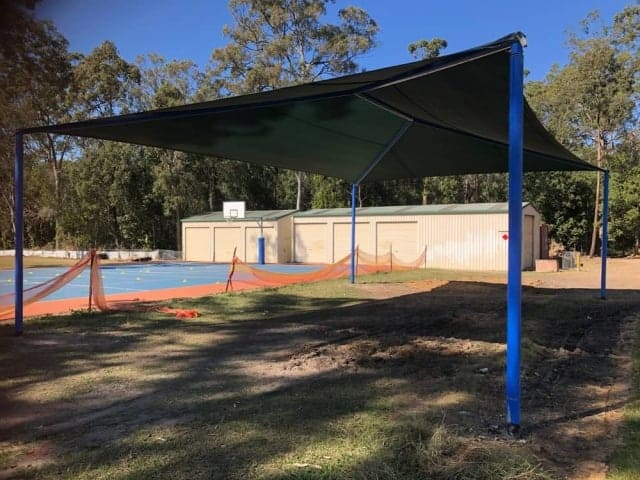 Playground Shade Sail installation at Mansfield State School by Superior Shade Sails Brisbane