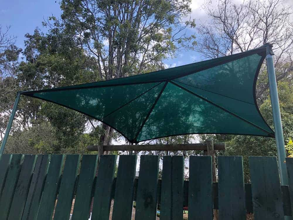 Playground Shade Sail for Chelmer-Graceville Kindergarten installed by Superior Shade Sails.