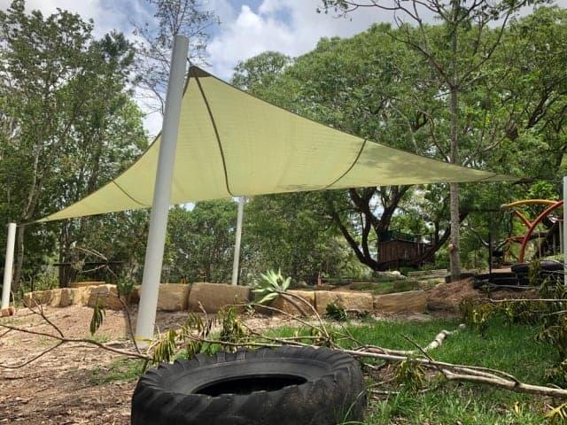 Sand Pit Shade Sail installed in Brisbane Independent School by Superior Shade Sail, Brisbane