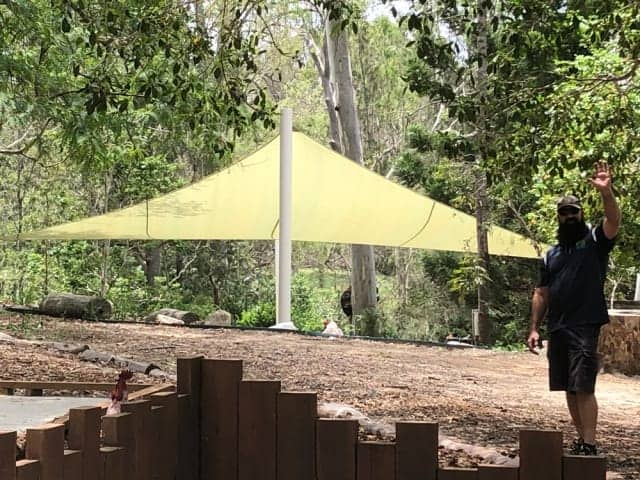 Sand Pit Shade Sail installed in Brisbane Independent School by Superior Shade Sail, Brisbane