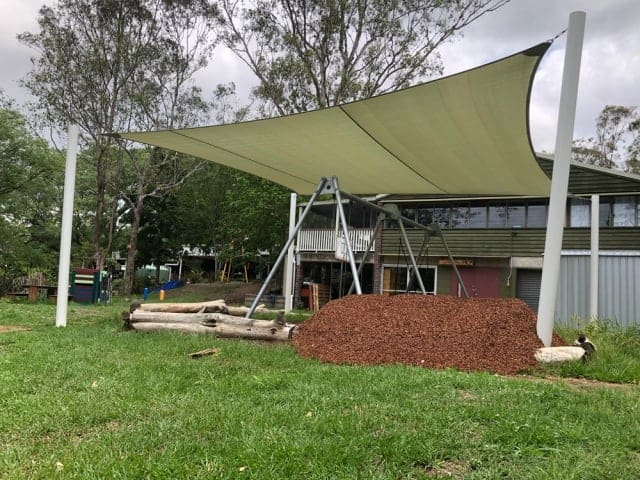 Playground shade sail for the Sandpit at Brisbane Independent School by Superior Shade Sails, Brisbane
