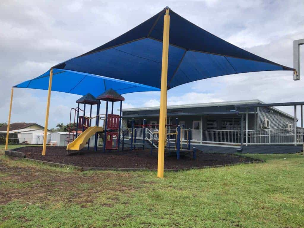 Replacement Shade Sail for this Hyp and Ridge structure at Norris Road State School for the Playground.