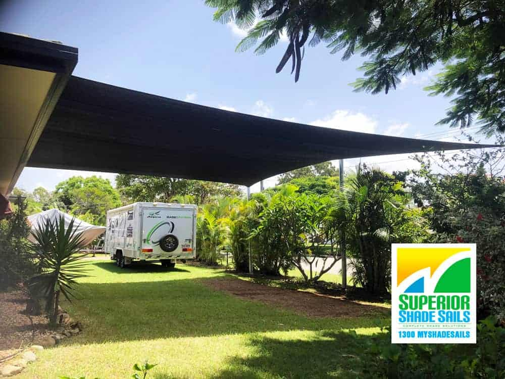 Boat & Caravan shade sail cover installed by Superior Shade Sails, Brisbane
