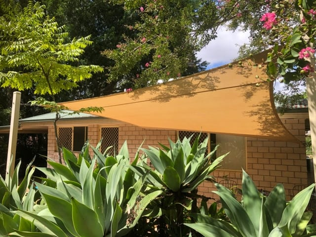 Replacement Patio Shade Sail installed by Superior Shade Sails, Brisbane