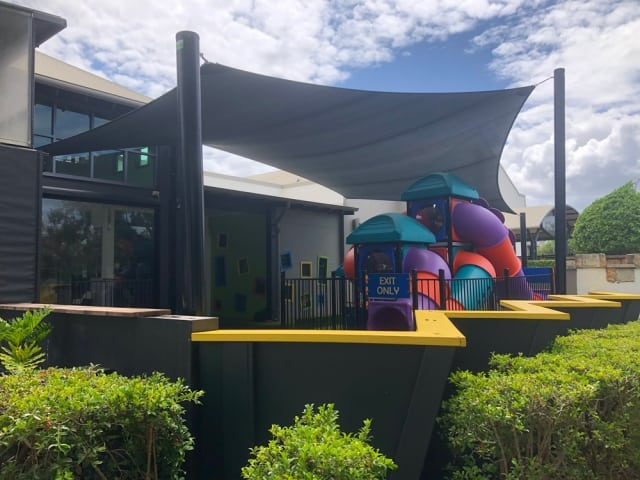Replacement Shade Sail |The Forest Lake Hotel now has a brand new shade sail for the playground
