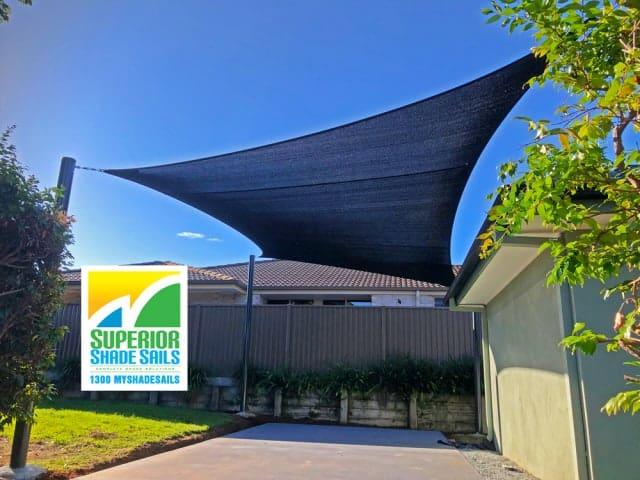 Caravan Carport Shade Sail installed by Superior Shade Sails, Brisbane