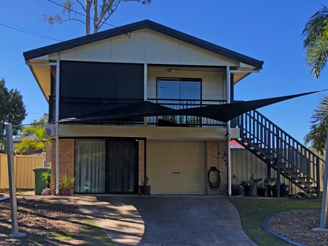 We added a 5 Point Carport Shade Sail to this home in Eagleby using the Rainbow Z-16 shade fabric.