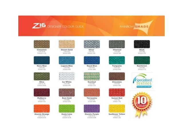 Z16  Designer Colour Guide