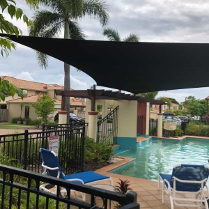 Pool Shade Sail, Varsity Lakes Might be a bit cloudy today, but when the sun comes out again the Pool Shade Sails we installed recently at this home in Varsity Lakes, will be just the thing to stay cool in the pool