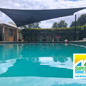 Hyperbolic Pool Shade Sail installed by Superior Shade Sails Brisbane